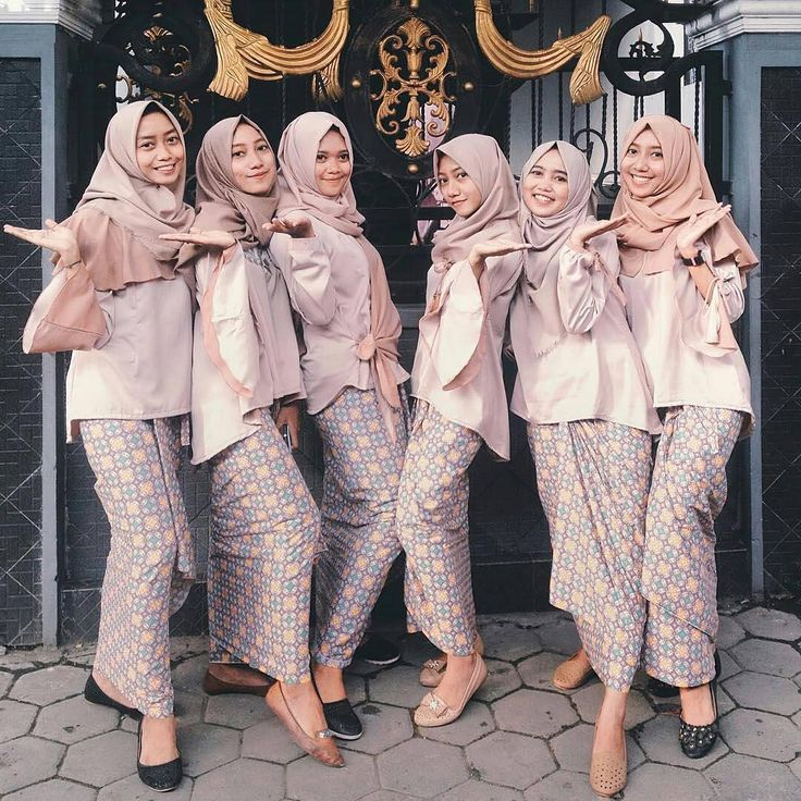 bridesmaid dress inspiration came from @kdinina, they looks so happy in their pink nude dress and batik skirt