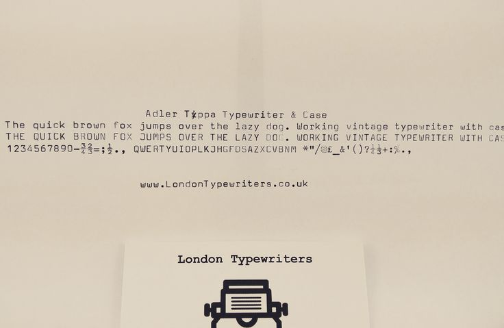 Check out this funky typewriter font! It was typed with an Adler typewriter from the 70's/80's. I installed a new ink ribbon for it though did make a couple of typos! For sale on  www.LondonTypewriters.co.uk! #londontypewriters #vintage #decor #vintagetypewriter #retro #prop #literature #poetry #retrodecor #collectable #typewriter #art #home #homedesign #lifestyle #poets #novel #writers #typewriterfont #keys #old #london #uk #ebay #etsy #friday #weekend #font #crema