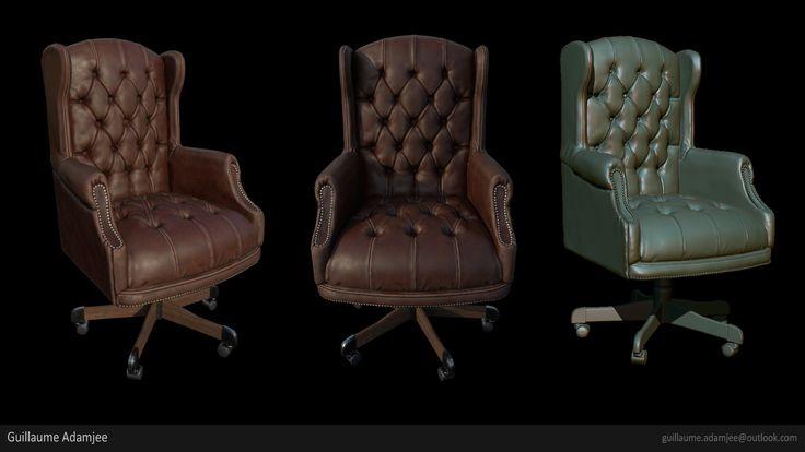 ArtStation - Desk Chair, Guillaume ADAMJEE