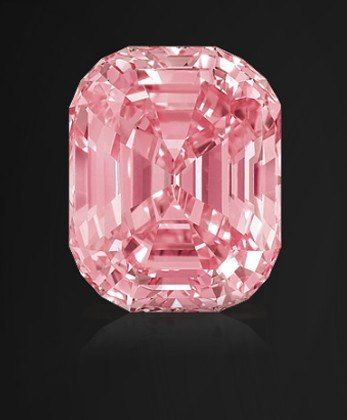 The Graff Pink, a 24.78 carat pink diamond, has a rectangular shape with rounded corners and was once owned by Harry Winston. | Diamond, Colored diamonds, Gems jewelry