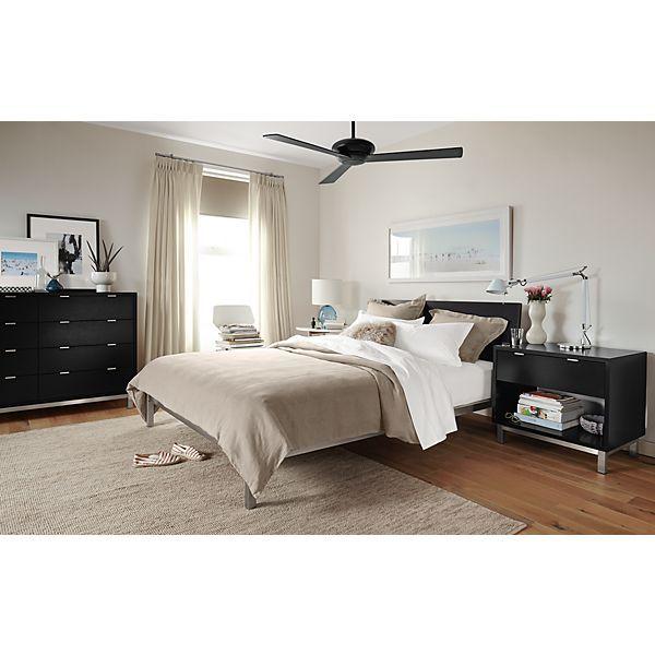 Copenhagen Bed And Dresser In Ebony Bedroom Room