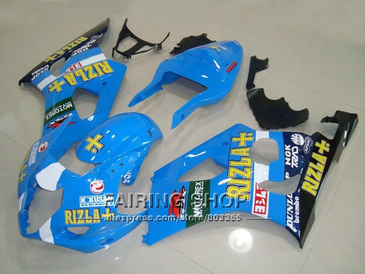 (344.10$)  Watch more here  - Aftermarket body parts fairings for Suzuki GSXR1000 2003 2004 yellow sticker sky blue injection fairing kit GSXR 1000 03 04 YI18