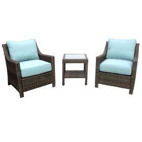 laguna 3 piece wicker chair and table set garden furnitureoutdoor