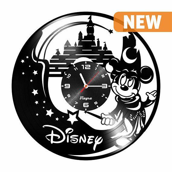 Mickey Mouse Clock Wall Disney Vinyl Clock Walt Disney Mickey