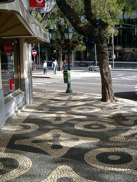 Patterned Mosaic Pavements in Funchal, Madeira.