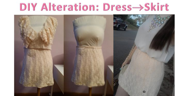DIY Altertation From a Dress to a Skirt with Elastic