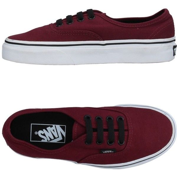 Vans Low-tops & Sneakers ($69) ❤ liked on Polyvore featuring shoes, sneakers, maroon, rubber sole shoes, low profile sneakers, low profile shoes, maroon sneakers and low top