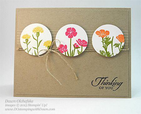 Stampin' Up! Wild About Flowers card by Dawn Olchefske for DOstamperSTARS Thursday Challenge #137 #dostamping #stampinup
