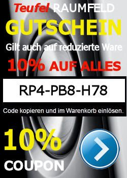 RP4-PB8-H78 – GUTSCHEIN – 10% AUF ALLE TEUFEL & RAUMFELD-PRODUKTE http://www.m.lautsprecher-shop.com/teufel-gutschein/rp4-pb8-h78-gutschein-10-auf-alle-teufel-raumfeld-produkte/