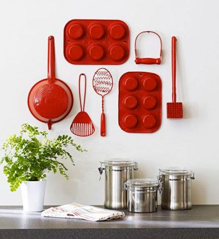 17 Stunning Wall Decors with Reclaimed Kitchen Utensils