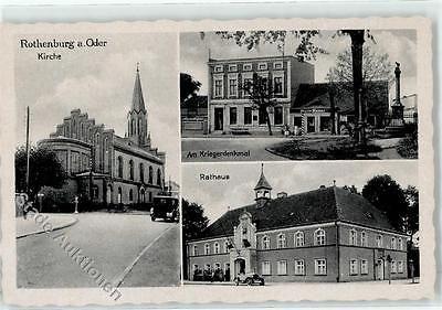 51871222 - Rothenburg   Czerwiensk Kirche Rathaus Kriegerdenkmal