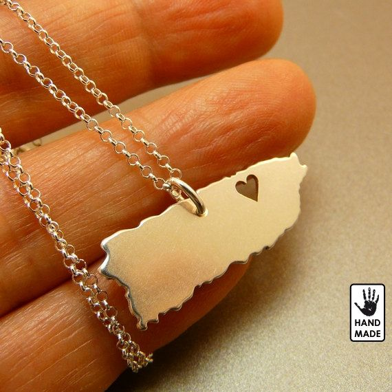 Puerto Rico sterling silver pendant sterling silver by StefanoArt, $40.00