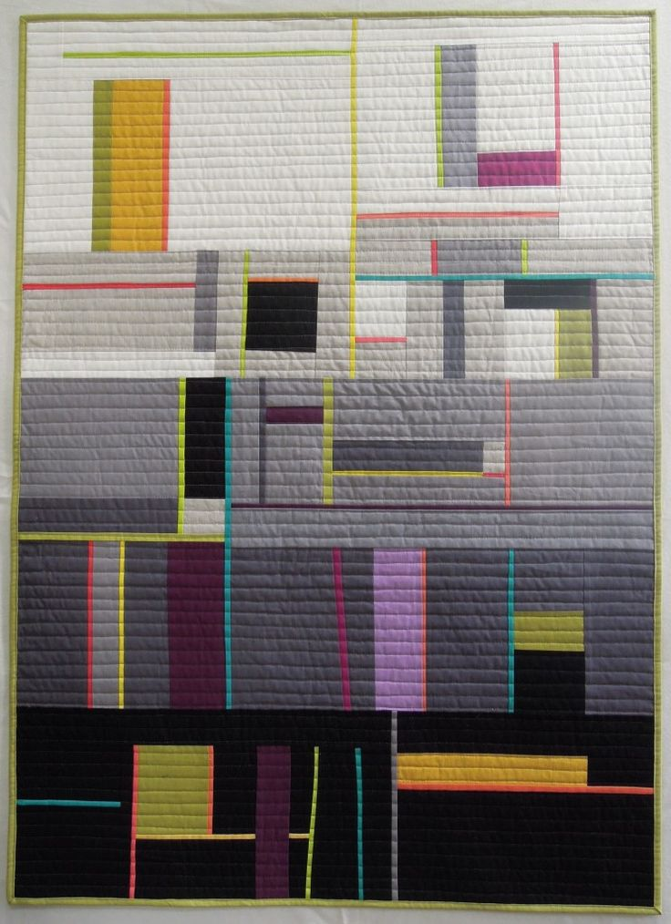 Shades of Gray by Terry Aske.  2nd place award in the Modern category, Quilts Canada 2014