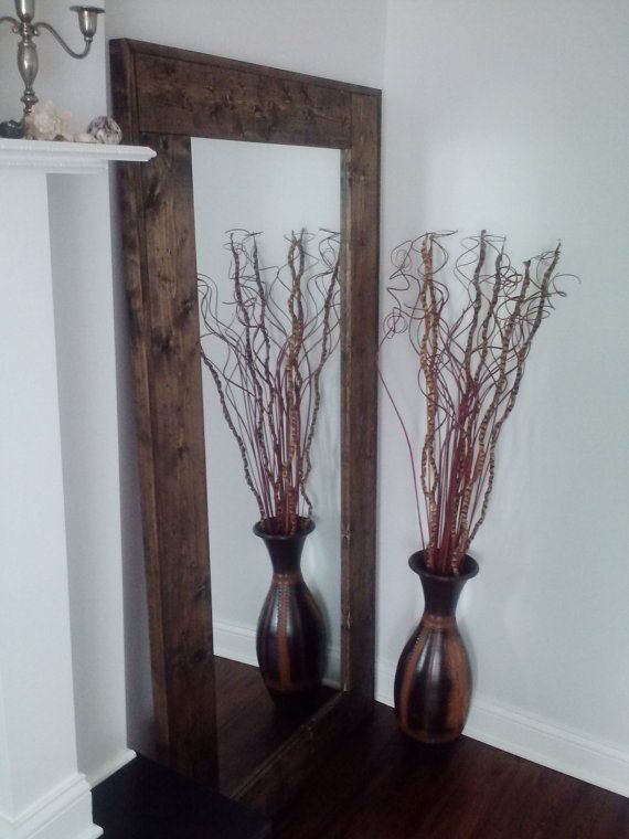 Large Floor Mirror Reclaimed Wood Mirror by ThisOldWoodShop - 38 Best Mirror, Mirror! Images On Pinterest