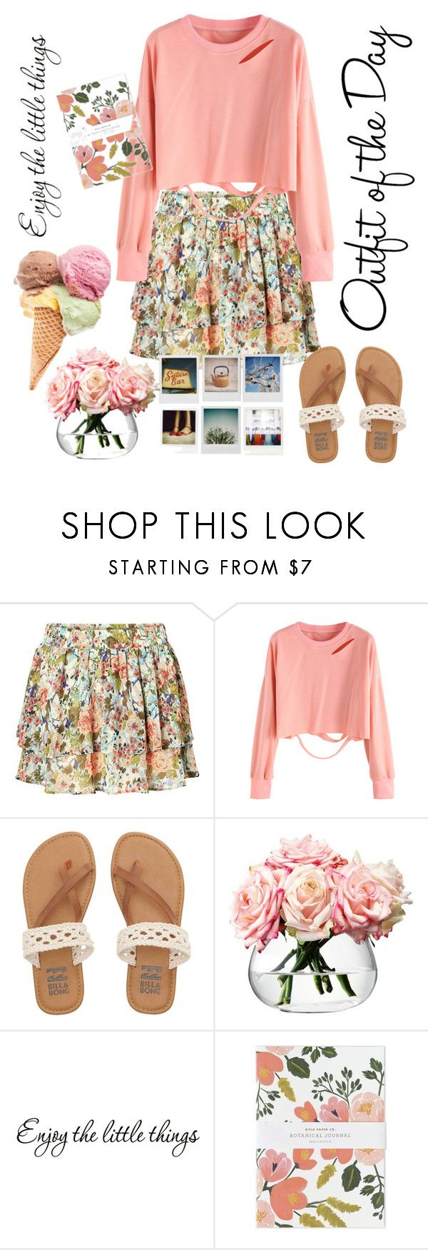 """Floral Mini Skirt"" by alongcametwiggy ❤ liked on Polyvore featuring Vero Moda, Billabong, Polaroid, LSA International, Petit Bateau, WALL and Rifle Paper Co"