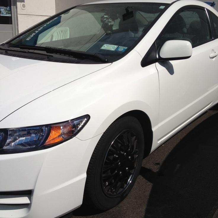 2011 Honda Civic Coupe White Black Rims With Chrome Lips ️ Cars Pinterest 2011 Honda