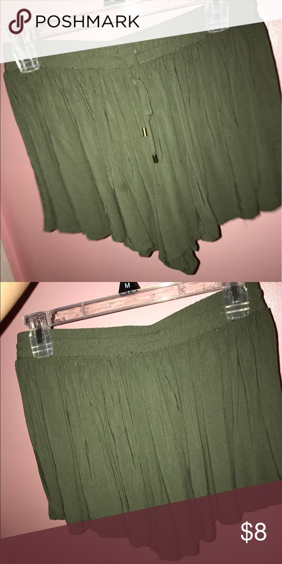 Army Green Shorts Super comfy army green shorts! shorts are very soft and flowy, Forever 21 Shorts