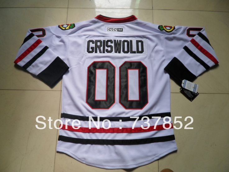... Vintage CCM Moive National Lampoons Christmas 2013 Stanley Cup  Champions Authentic Mens 00 Clark Griswold Jersey Road White Chicago  Blackhawks Hockey ... 624e052db