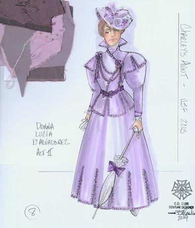 Charley's Aunt (Donna Lucia D'Alvadorez). Utah Shakespeare Festival. Costume design by Bill Black.