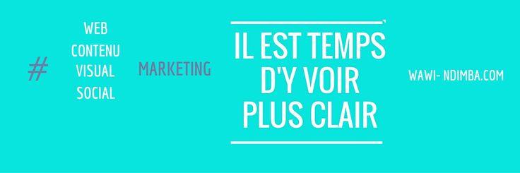 Il est temps d'y voir plus clair! #webmarketing #contenumarketing #visualmarketing #socialmarketing
