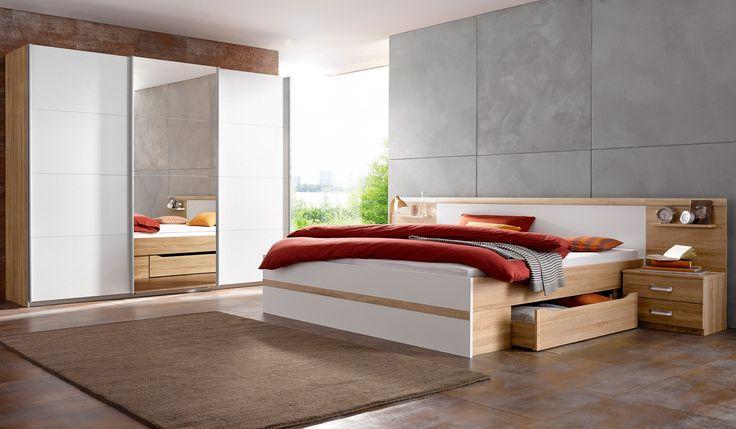 Home affaire Schlafzimmer-Set (4-tlg) »Sarah«, mit Bett 180 200 - schlafzimmer set günstig