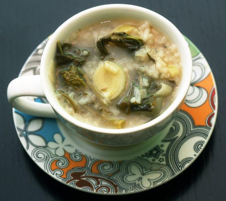 Coconut & Lime // recipes by Rachel Rappaport: Rapini + Leek + Rice Soup