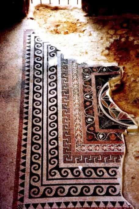 Masada Mosaic - #Israel. #archaeology