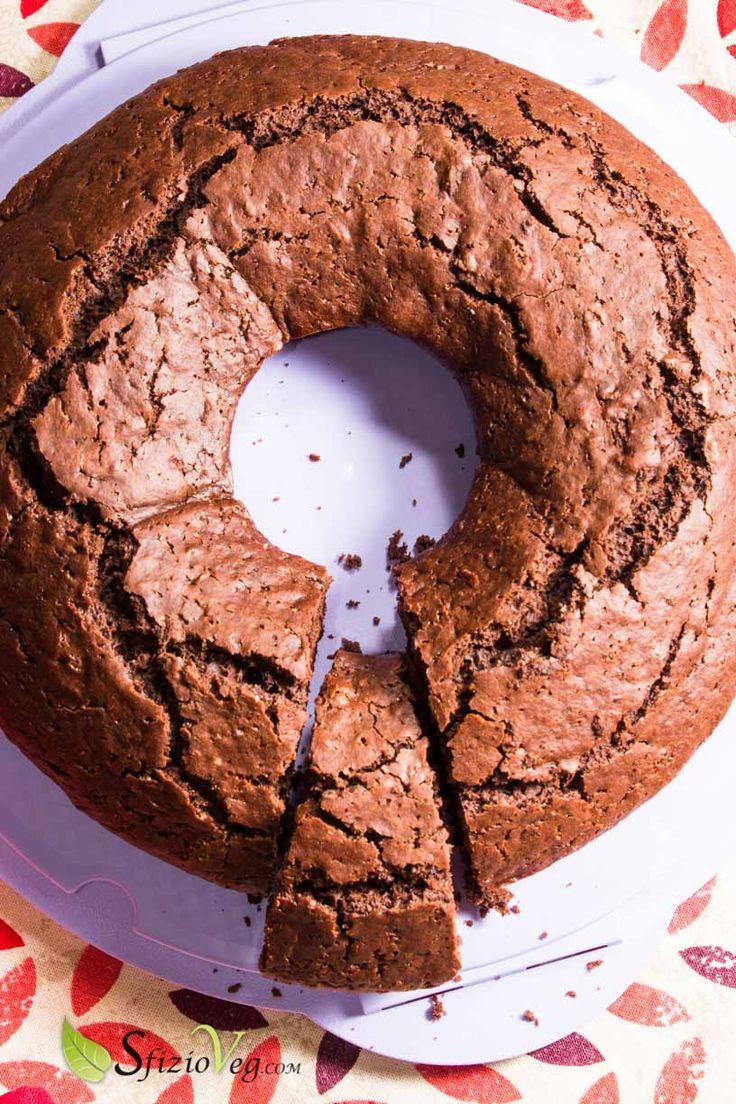 Ciambella al cioccolato senza uova - Ricetta Vegan - SfizioVeg
