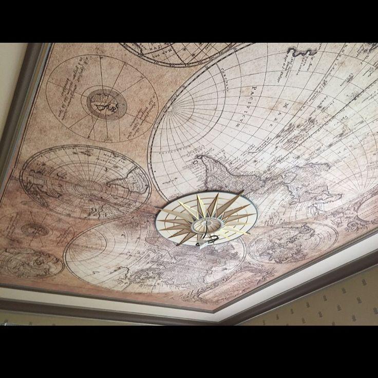 Интересная декоративная окраска лепнины потолка...