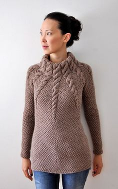 """-Finished Size: 32 (33½, 36½, 41, 46)"""" bust circumference. Pullover shown me…"""