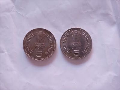 Old Coins, Stamps & Antique Coins for Sale: 5 rupee indira gandhi and jawaharlal nehru coins f...
