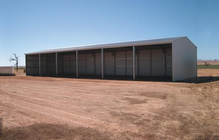 Equipment Plus Farm Shed | Open front farm shed with six 4m wide bays to provide plenty of room.