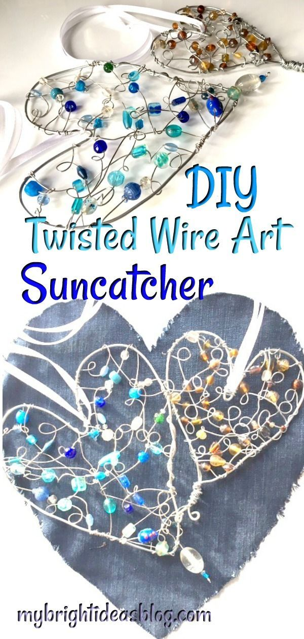 Twisted Wire Art Love Heart Suncatchers Tween Crafts Wire Art