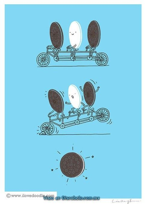 Imagen de oreo, funny, bicycle, cookies and lol