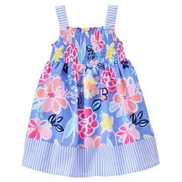 Toddler Girls Sky Blue Floral Floral Dress by Gymboree