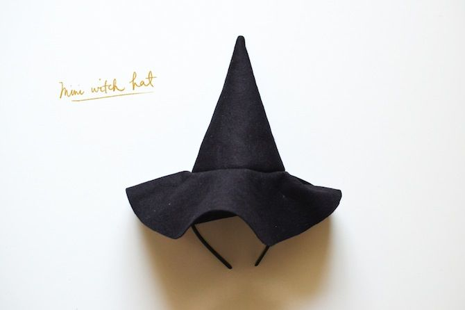 witchhat. i like the idea of connecting the hat to the headband so it dosnt fall off as easy