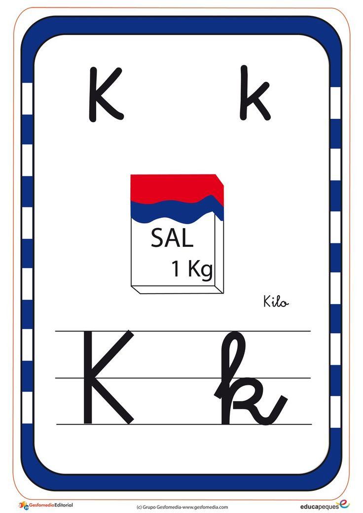 abecedario en color k