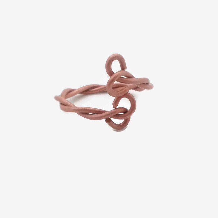 Copper Ring, Bare Copper Ring, Copper Wire Ring, Twisted Copper Ring, Adjustable Ring, Copper Wirework Ring, Copper Anniversary by FlutterbyDreamDesign on Etsy