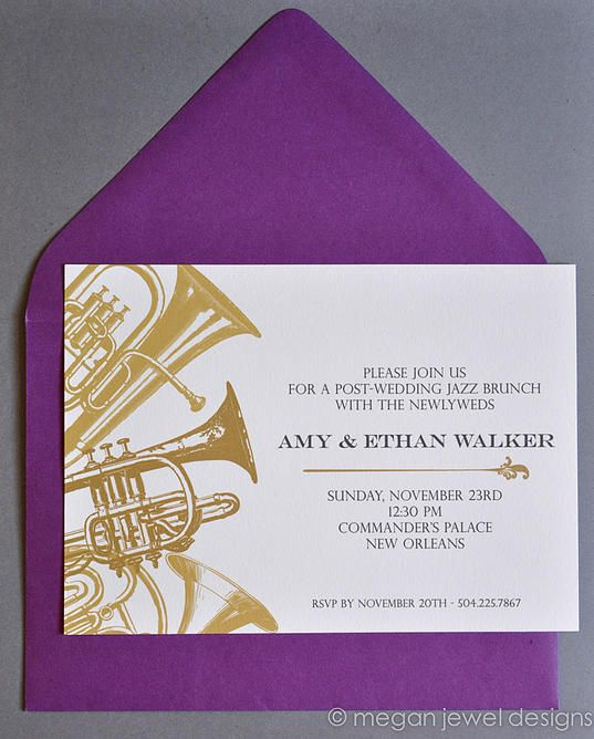 New Orleans Jazz Brunch Invitation