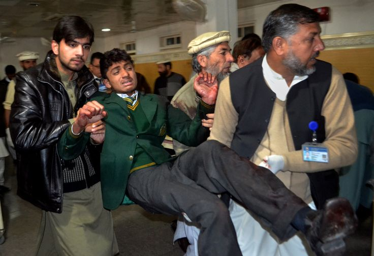 Pakistan School Massacre Taliban fighters attack a military-run school in Peshawar, killing more than a hundred students and teachers.