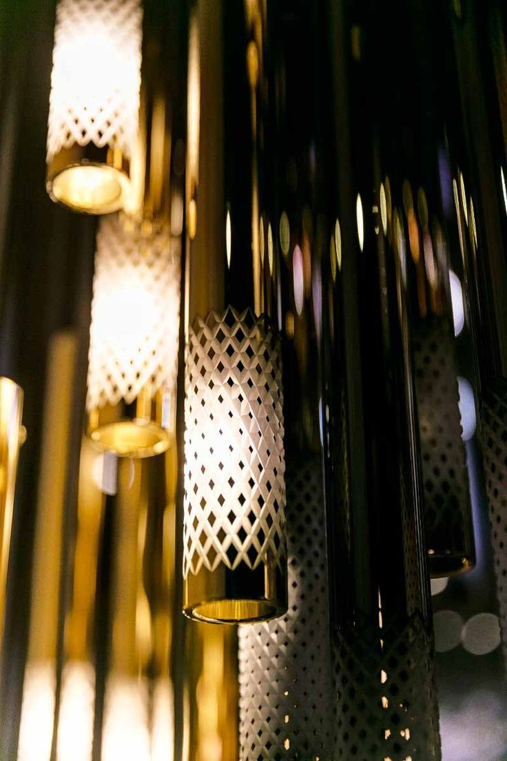 Symphony by @jikriica for Sans Souci - a way of altering a well-known component, a crystal tube. The tubes are treated with nano metal coating  and combined with a cut. As the coating was gradually cut off, a subtle gradient emerged, which is an impressive decorative feature from up close.