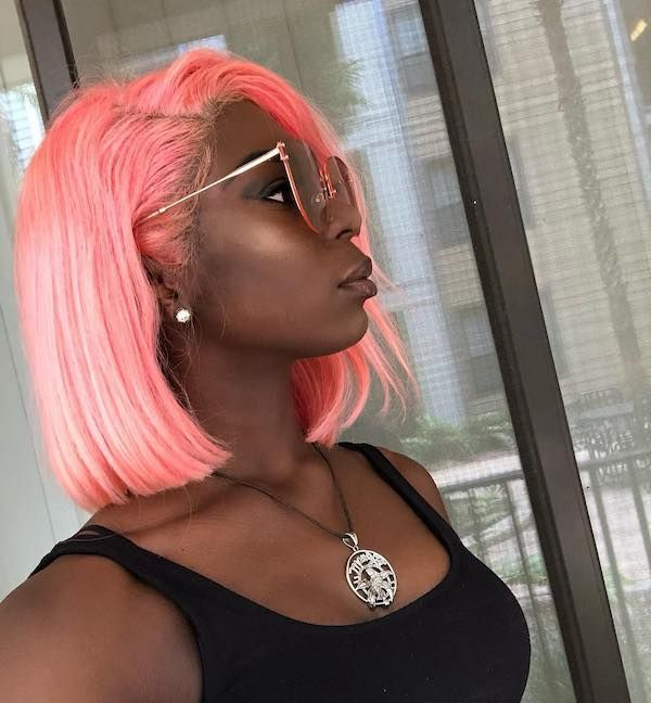 Peach Hair Color For Dark Skin Hair Color For Dark Skin Colored Hair Tips Bold Hair Color