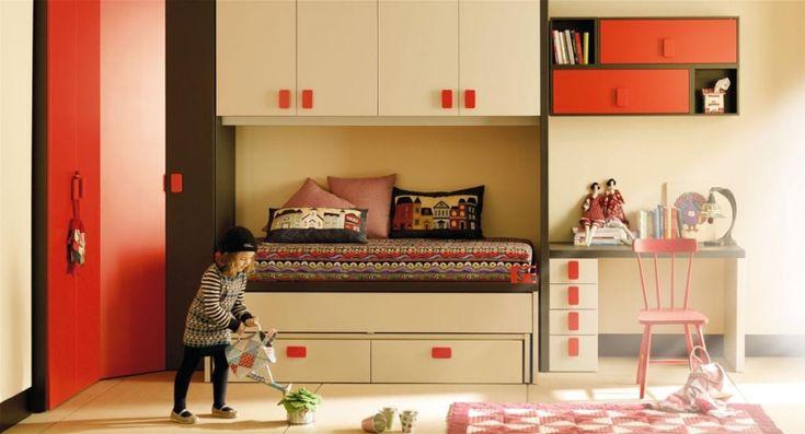 Kids room dormitorio infantil con gran capacidad de for Gabinete de almacenamiento dormitorio