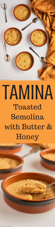 Tamina - Toasted Semolina with Butter & Honey