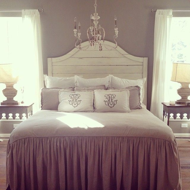 This is Fixer Upper -Chip & Joanna Gaines personal bedroom! Love the shiplap headboard!