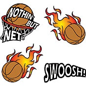 Nothin' But Net Basketball Set Temporary Tattoos