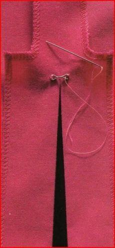 Как закрепить разрез юбки