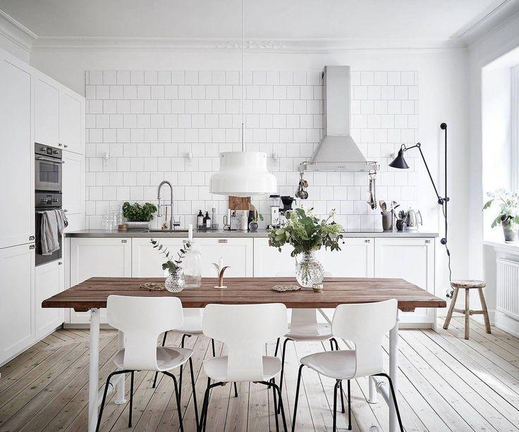 Scandinavian Minimalist, White Kitchen
