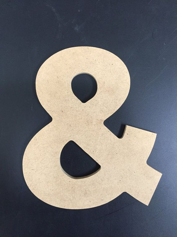Unfinished Wood Symbols  1/4 MDF  Aharoni font by AmUSABLE on Etsy