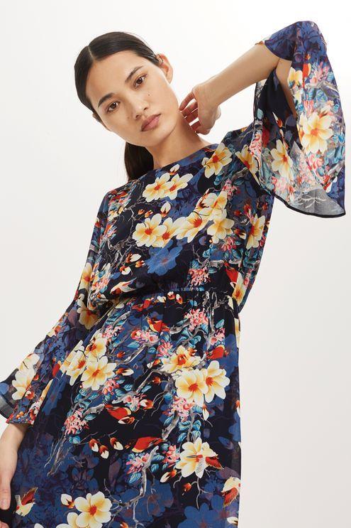 Floral Print Skater Dress by YAS